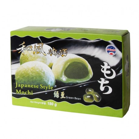 Prajituri Mochi cu fasole verde 180g