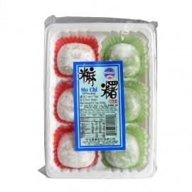 Prajituri Mochi cu ceai verde si fasole rosie 230g - Sun Wave