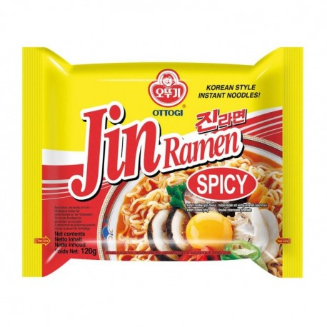 Taitei instant Ramen Jin Spicy 120g - Ottogi