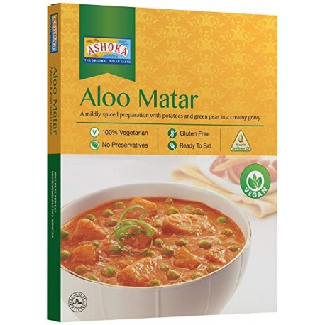 Aloo Matar (gata de mancat) 280g - Ashoka