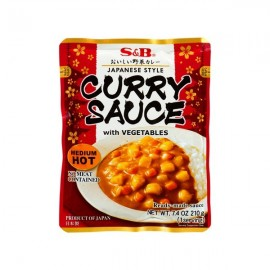 Curry Sauce with Vegetables (Medium) 205g - S&B